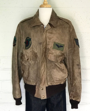 GINO LEATHER vintage bomber