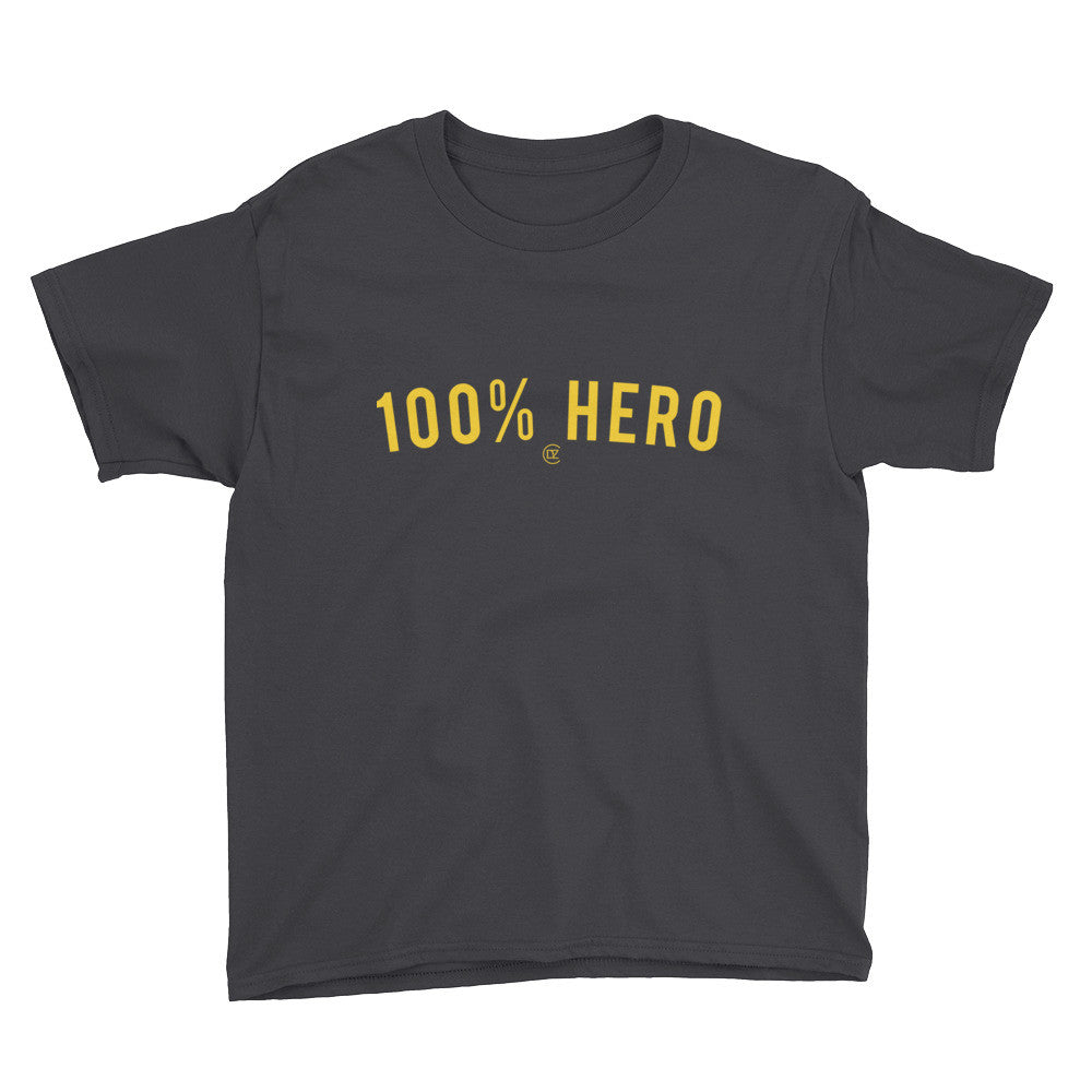 100% HERO Black and Yellow Edition Youth T-Shirt