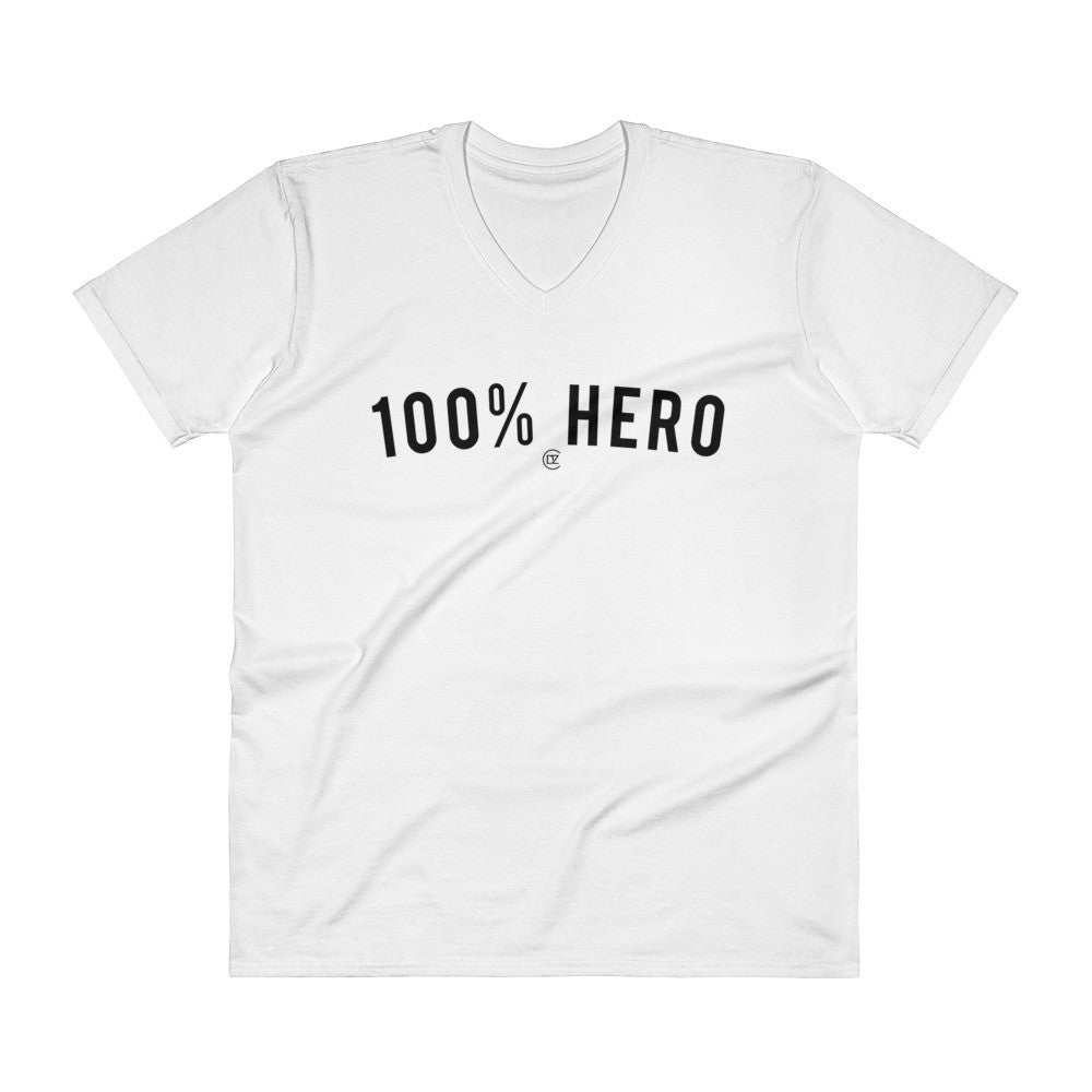 100% HERO V-Neck T-Shirt