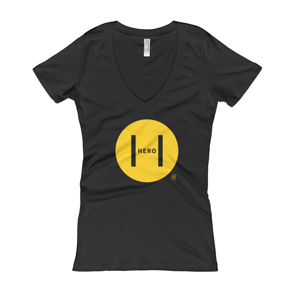 Big H Hero Black and Yellow Edition Women's V-Neck T-shirt