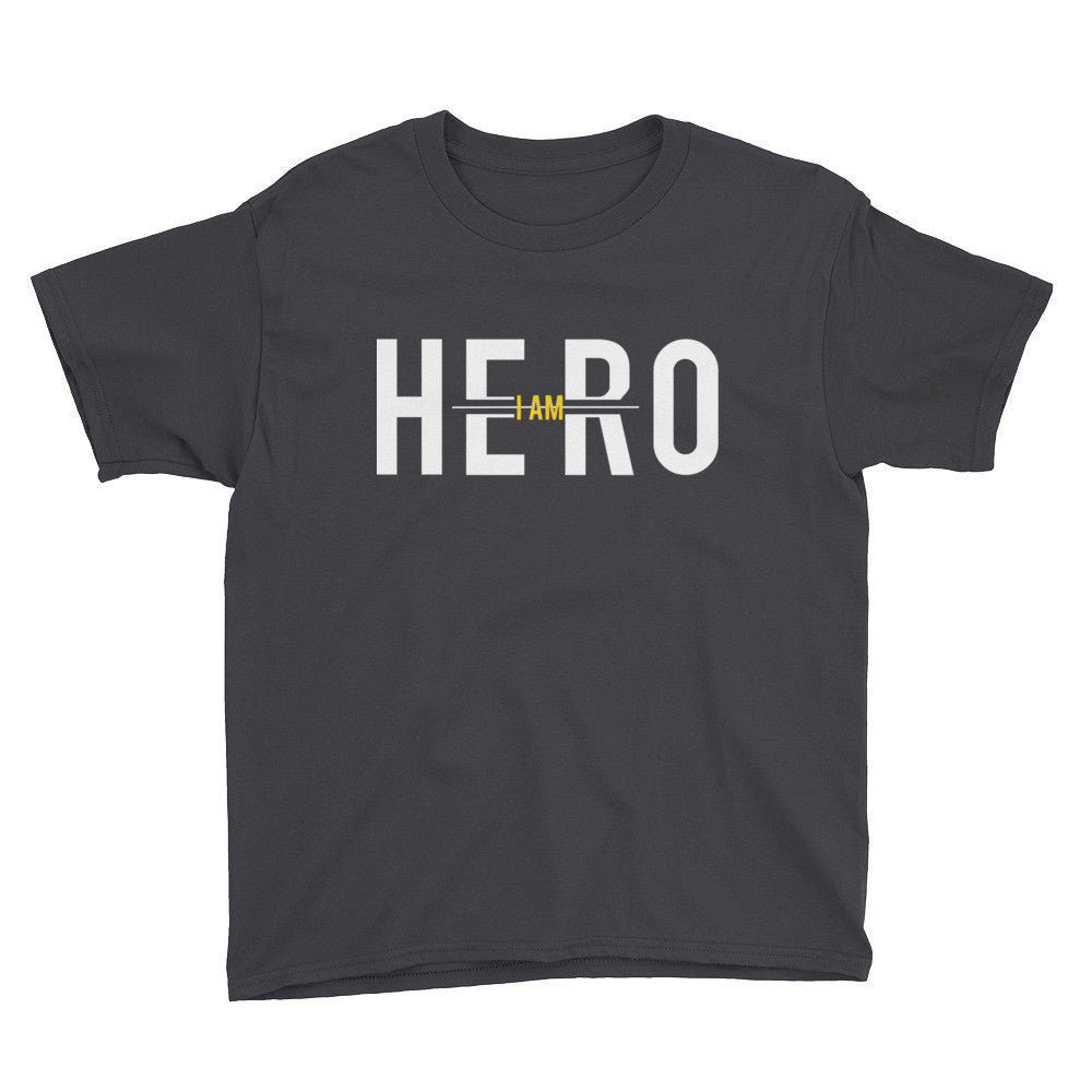 I Am Hero Official Black and Yellow Youth T-Shirt