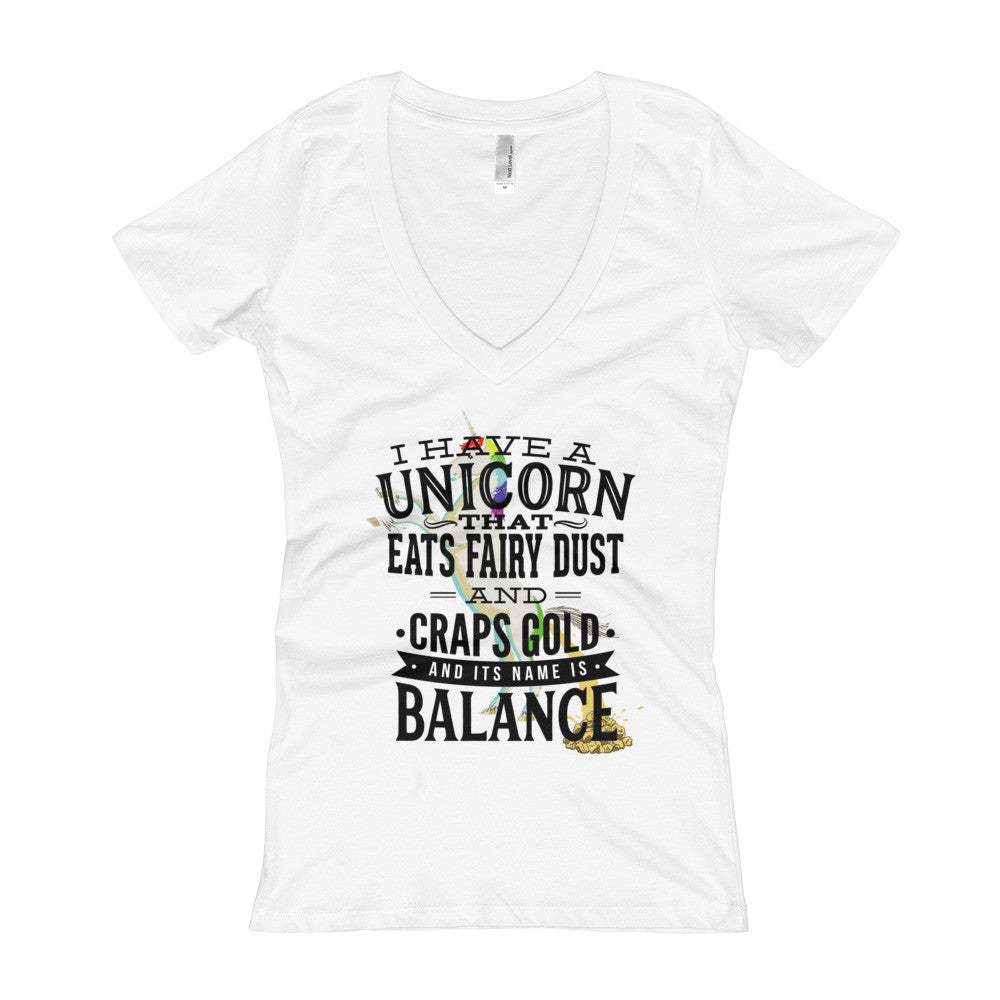 Unicorn Women's V-Neck T-shirt