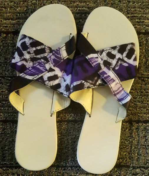Ty African Print Flip Flops for  <span class=money>$35.00 USD</span>  at Elaborationz