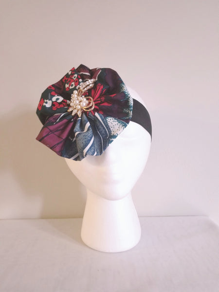 African Print Floral Headband