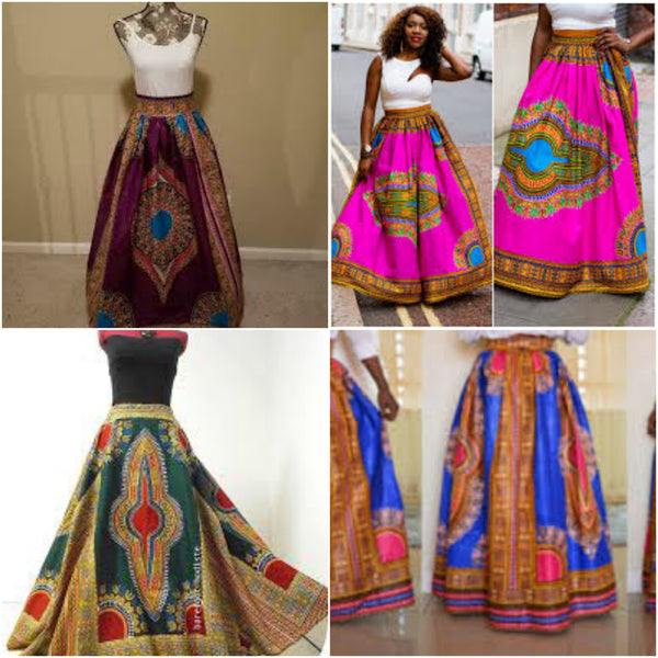 Dashiki Maxi Skirts (20 Pcs)