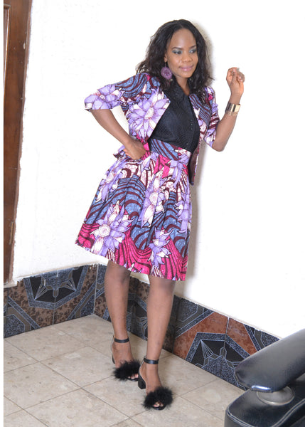 Madison African Print Jacket & Skirt for  <span class=money>$110.00 USD</span>  at Elaborationz