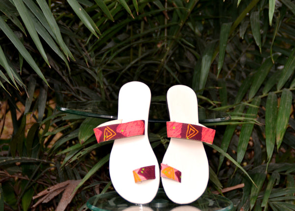 Sade African Print Flip Flops for  <span class=money>$35.00 USD</span>  at Elaborationz
