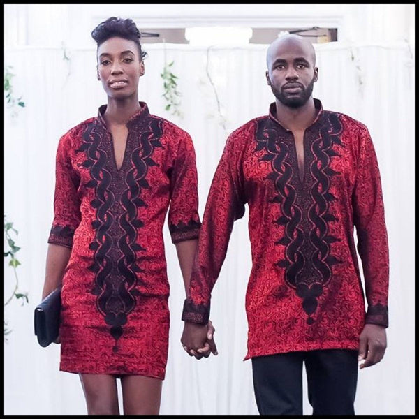 African Inspired Engagement Outfit / Wedding Outfit for a Couple for  <span class=money>$220.00 USD</span>  at Elaborationz