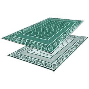 Reversible Vineyard RV Patio Mat - Green - 9' X 12'