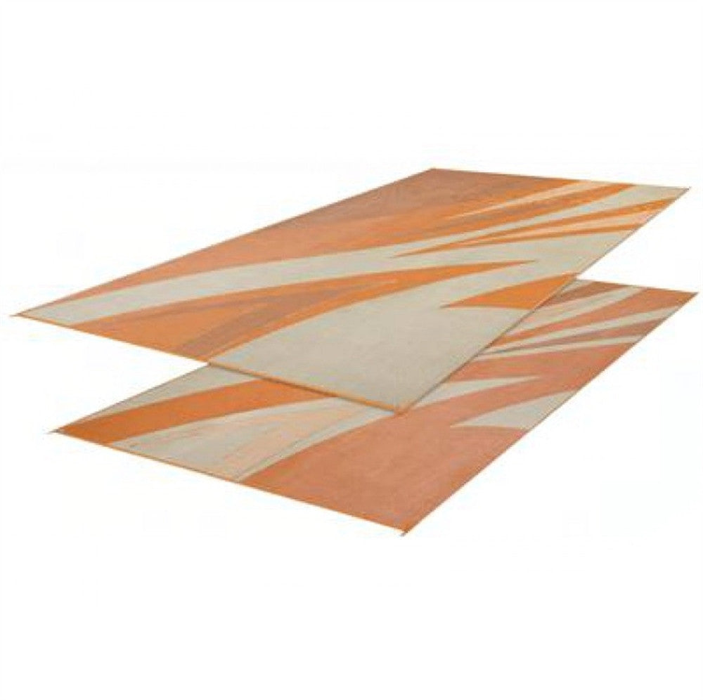 Tan/Gold Summer Waves Patio Mat 8' X 16'