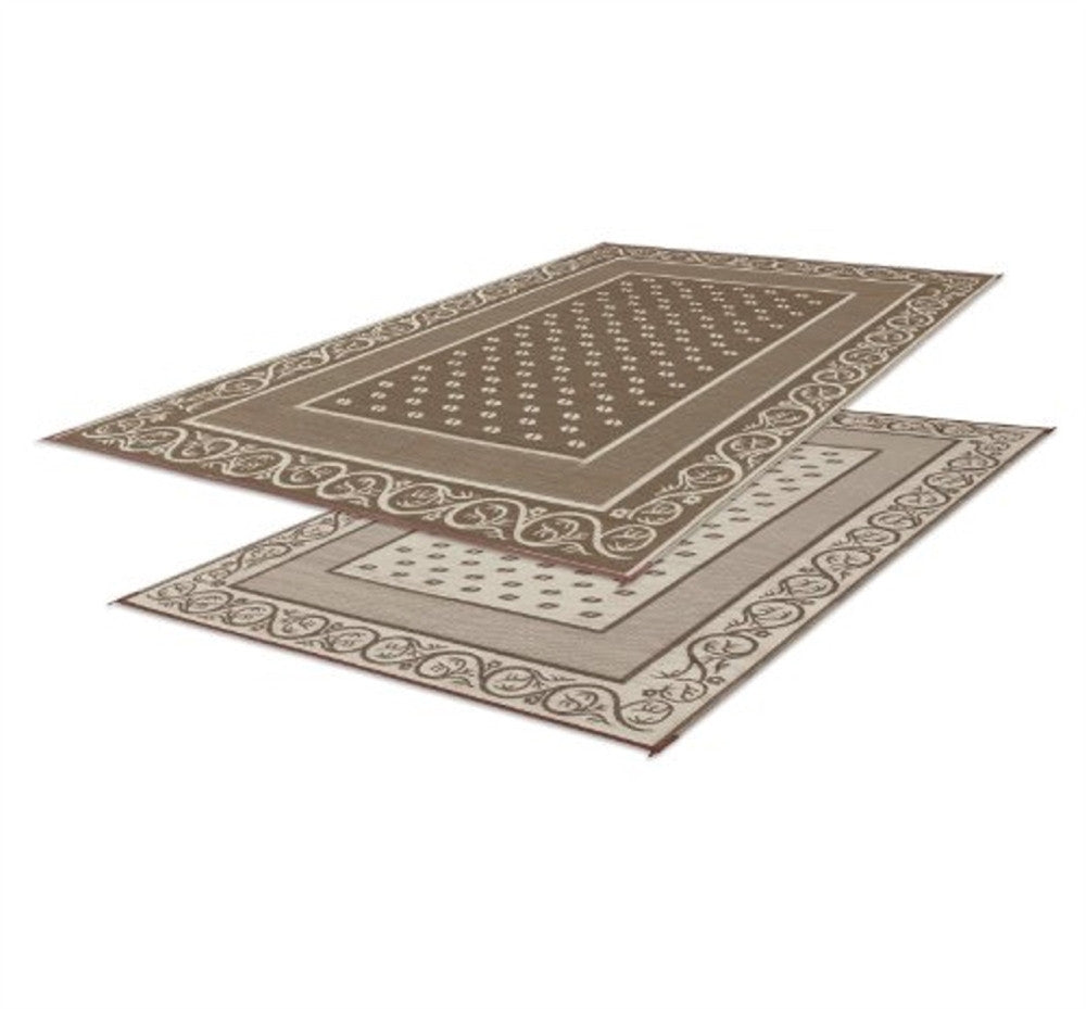 Reversible Vineyard RV Patio Mat - Beige - 9' X 12'