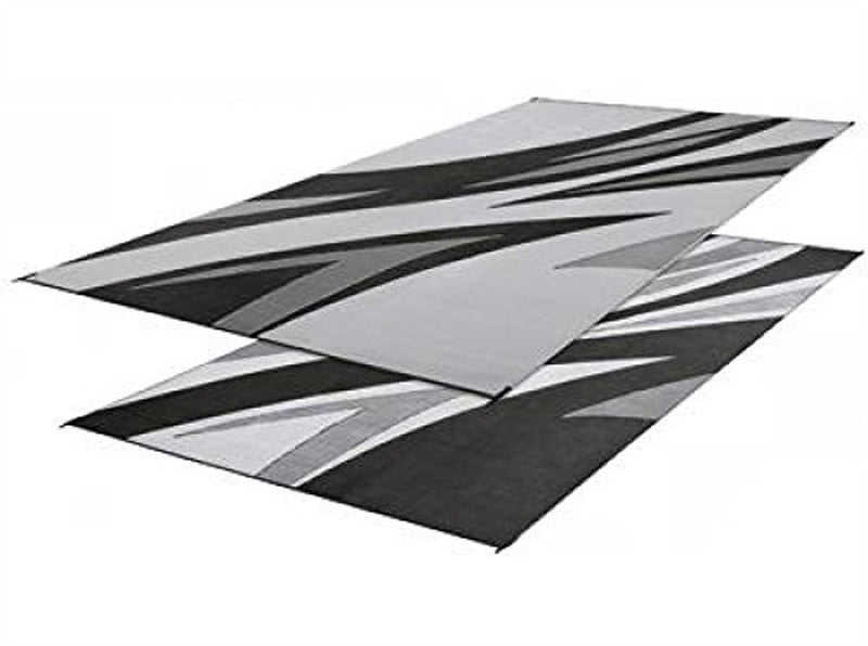 Black/Grey Summer Waves Patio Mat 8' X 16'