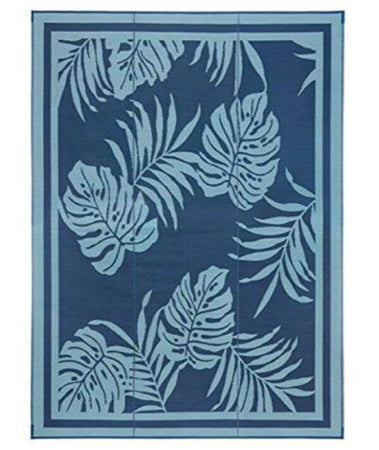 Blue - Paradise Design Patio Mat 9' X 18' 01-0717
