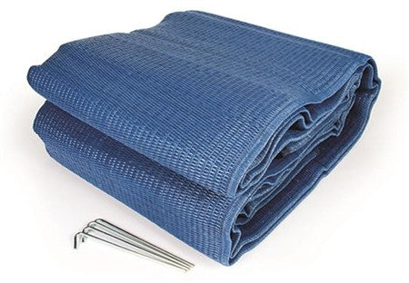 Blue RV Patio Mat 9' x 12'