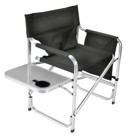 Directors Chair - Black - W/ Pocket Pouch & Folding Tray 03-0475