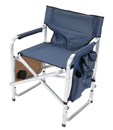 Directors Chair - Blue - W/ Pocket Pouch & Folding Tray 03-0480