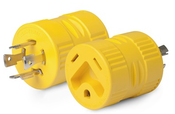 Adapter - 30A/125V to 20A/125/250V - Yellow - 128A