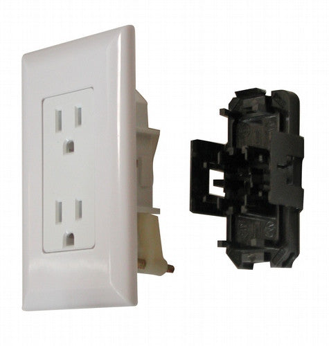 15 Amp Decor Receptacle With Cover - White