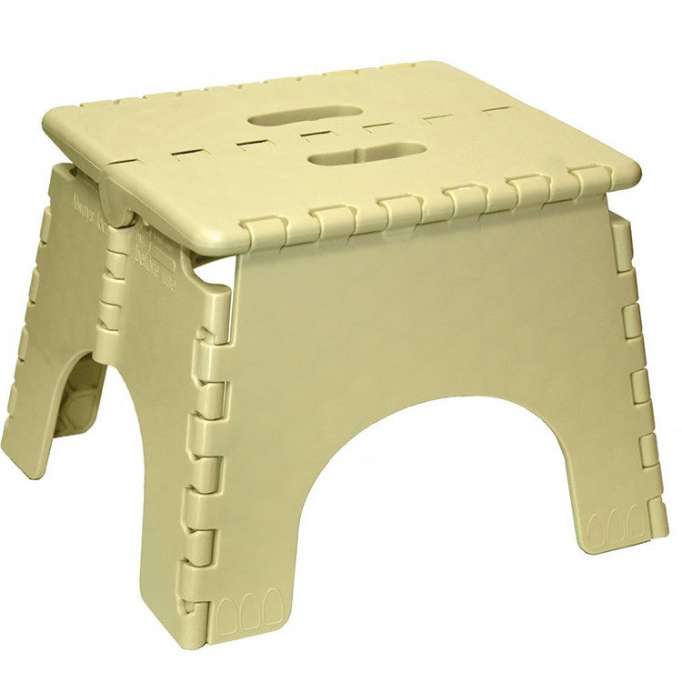 Folding Stool - White, Black or Tan