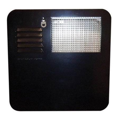 Suburban RV Water Heater Door - 6 gallon - Black  6261AEB