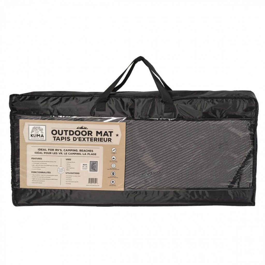 Bear Outdoor Mat - Black/Grey - 12' x 9'