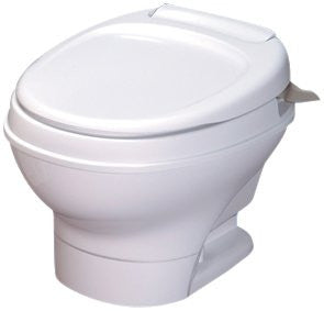Thetford AM V Low RV Toilet with Hand Flush - White or Parchment