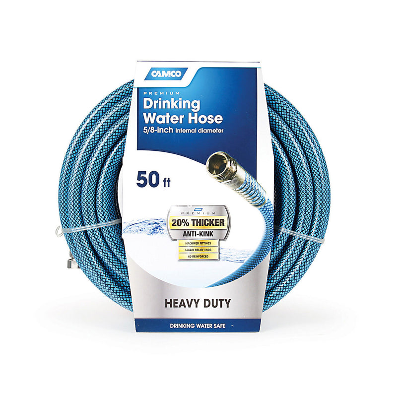 RV Fresh Water Hose with 2 Springs - 50'