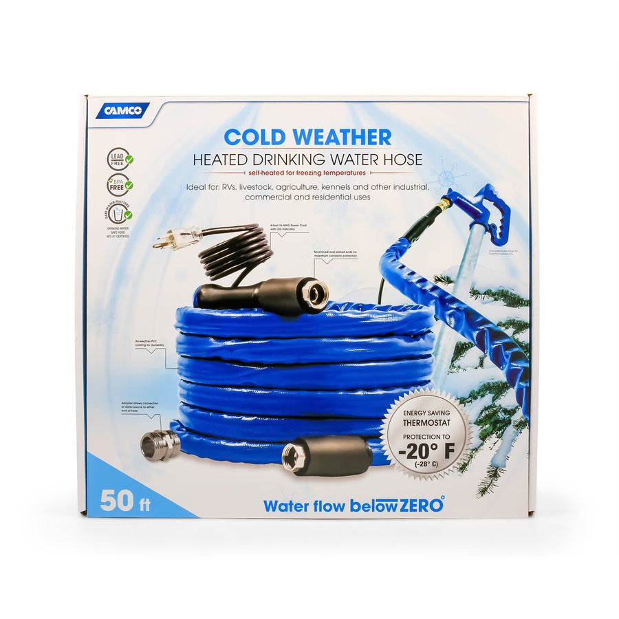 "Heated Drinking Water Hose - 50' - 5/8""ID"