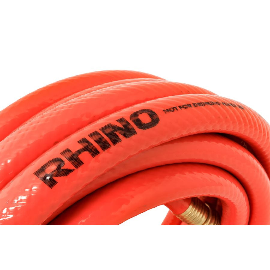RhinoFLEX Clean Out Gray/Black Water Hose - 25'