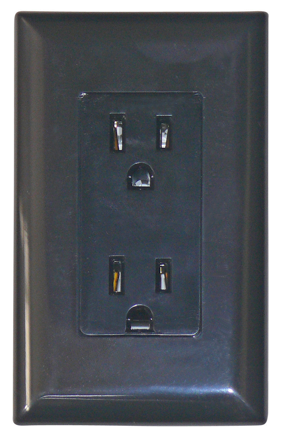 15 Amp Decor Receptacle With Cover Black United Rv