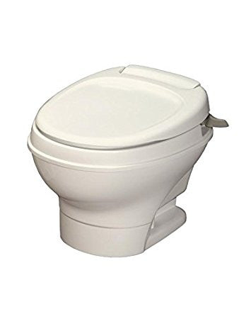 Thetford AM V Low RV Toilet with Hand Flush - Parchment 31647