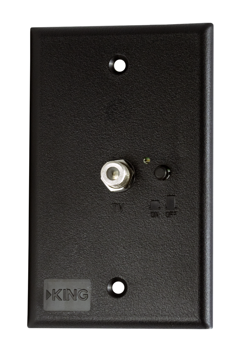 KING Jack Power Injector Switch Plate - Black PB1001