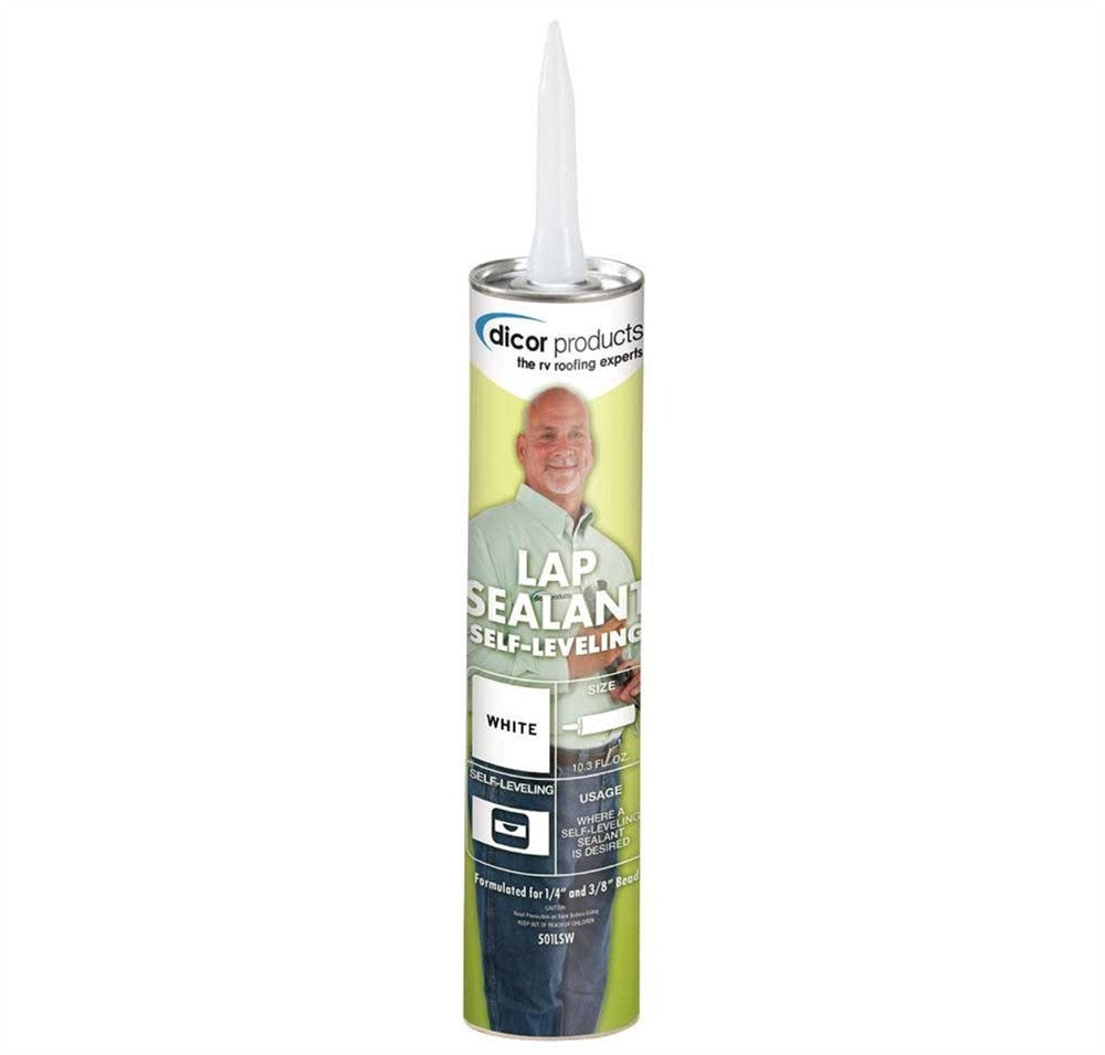 Dicor Self Leveling RV Lap Sealant - White - 501LSW-1