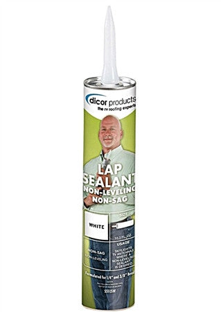 Dicor Non-Sag RV Lap Sealant - White - 551LSW-1