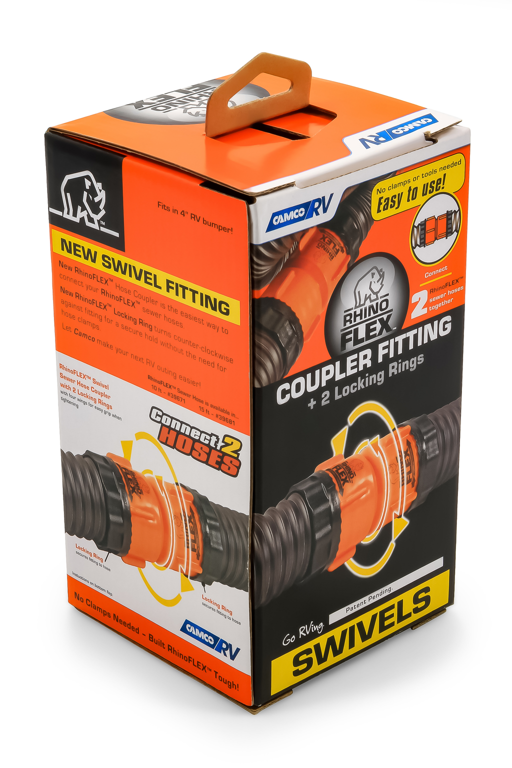 RhinoFLEX RV Sewer Hose Swivel Coupler