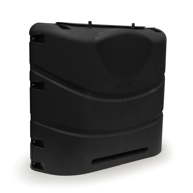 30 Pound LP Gas Dual Tank Cover - Black