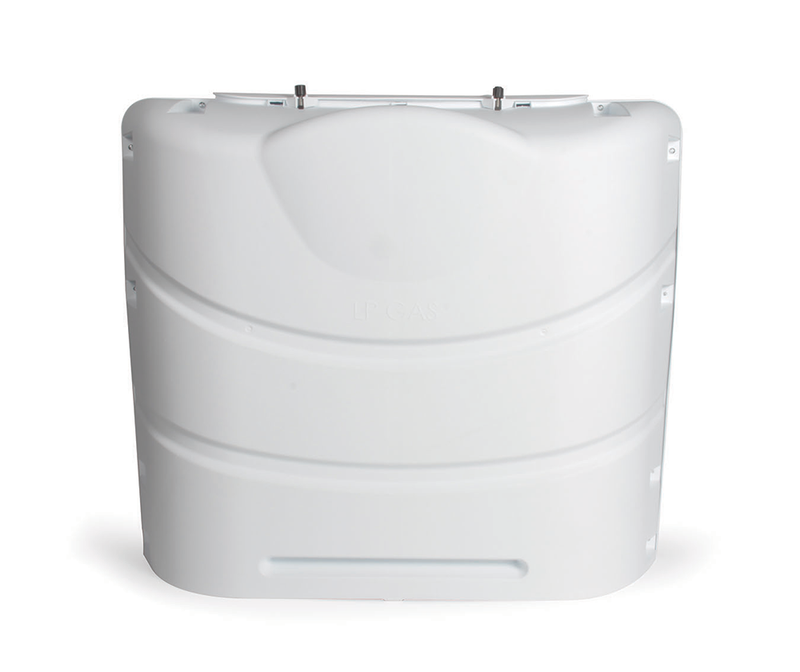 20 Pound LP Gas Dual Tank Cover - White  40523