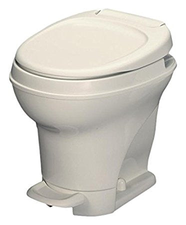 Thetford AM V Hi RV Toilet with Foot Flush - Parchment 31672