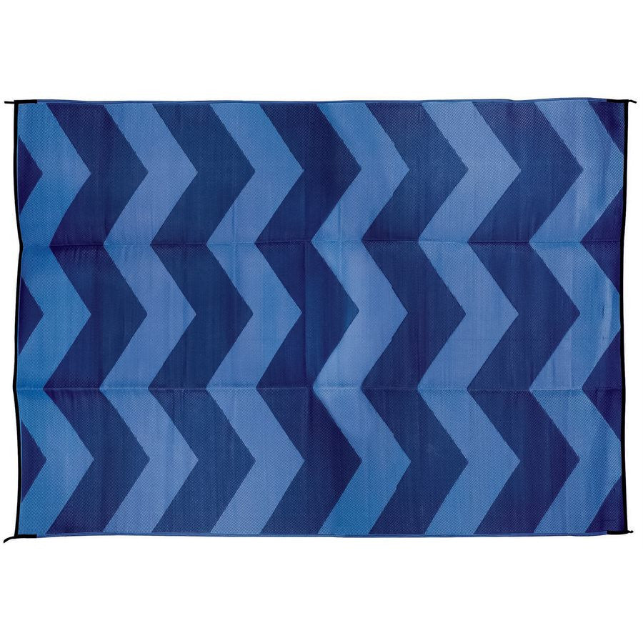 Outdoor Mat - Chevron - Blue/Blue 9' X 12'