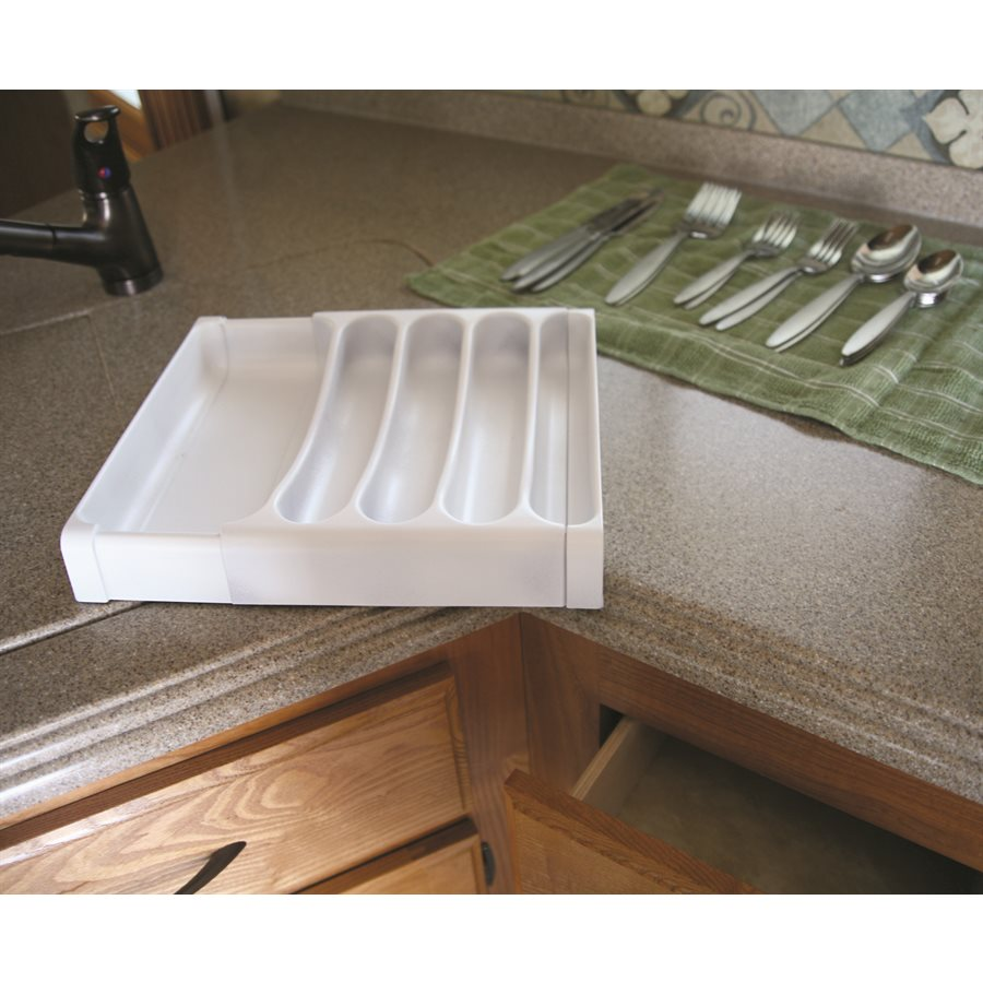 Adjustable Cutlery Tray - White - 43503