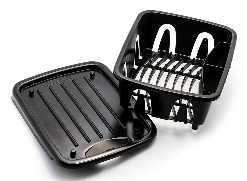 RV Sink Kit Mini Dish Drainer - Black