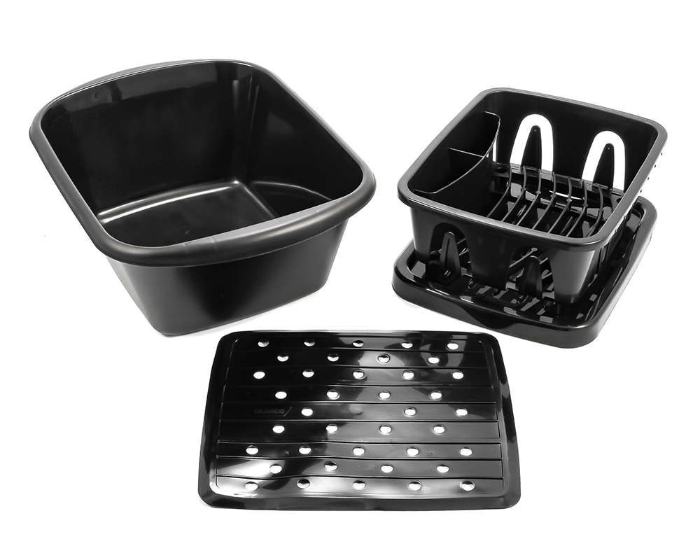 Sink Kit With Dish Drainer Black United Rv