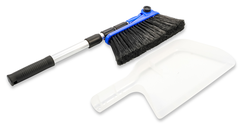 Adjustable Broom With Dust Pan