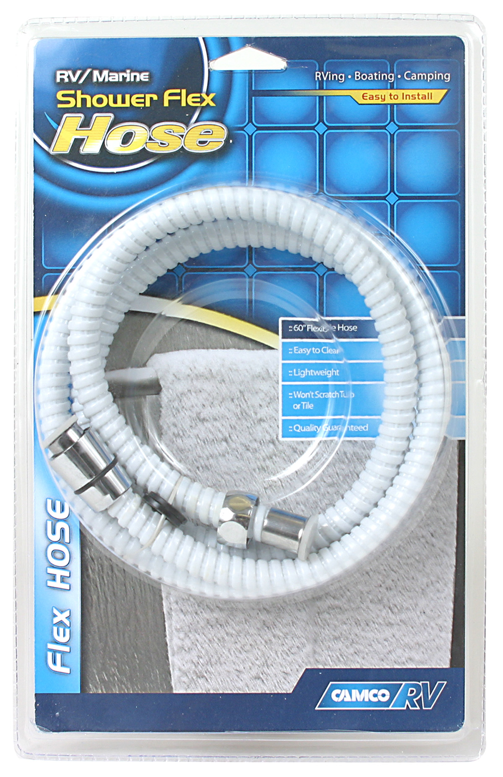 "Shower Head Hose - White - 60""  43717"