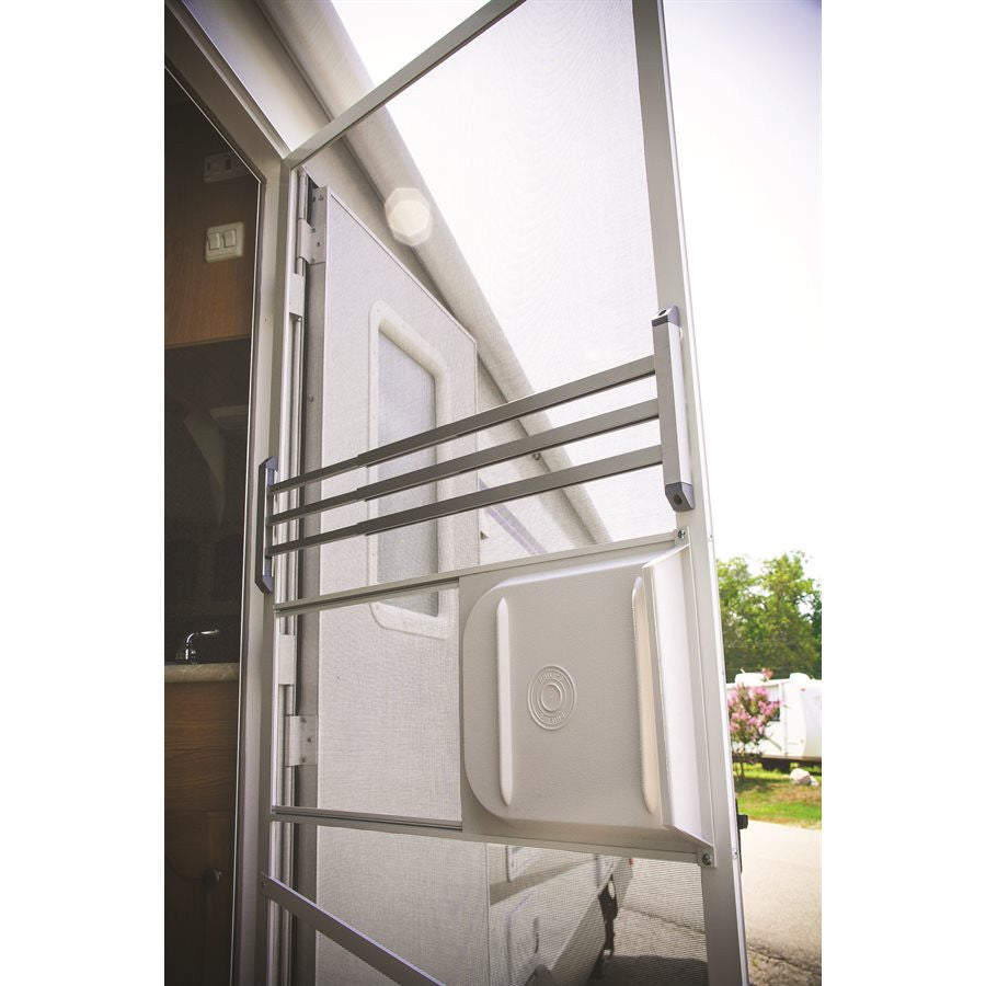 RV Screen Door Push Bar - White