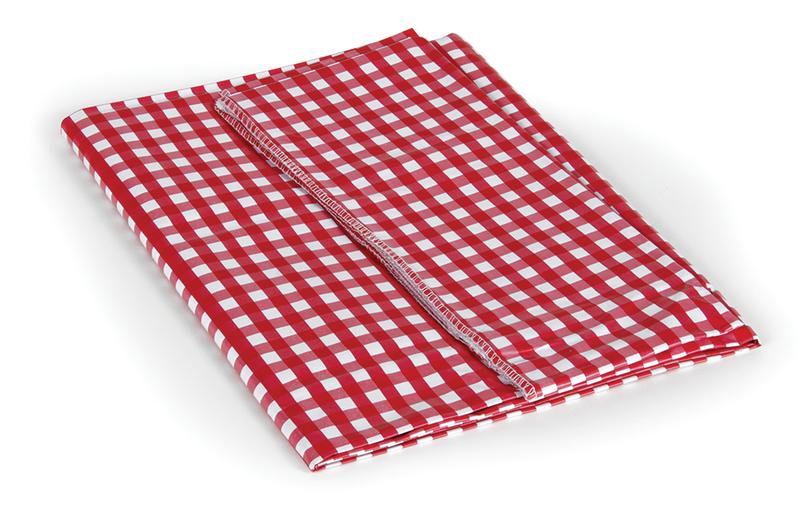 "Picnic Tablecloth - Red/White - 52"" X 84"""