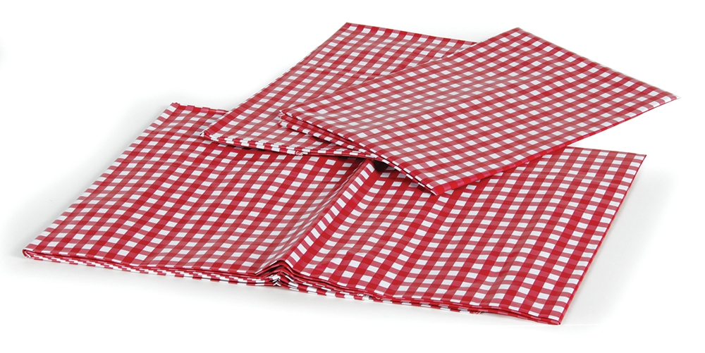 "Picnic Tablecloth - Red/White - 52"" X 84""  51019"