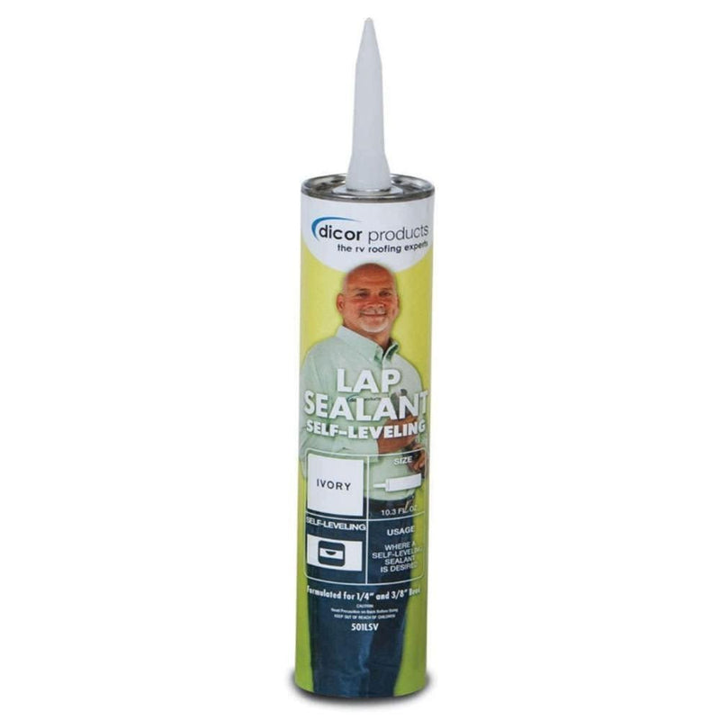 Dicor Self Leveling RV Lap Sealant - Ivory - 501LSV-1
