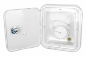 Gravity Water Hatch - Key Lock - Polar White
