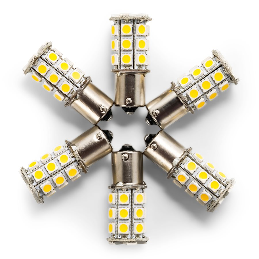 LED - 1156/1141/1073/93 (BA15S) 27-LED 285lm - Bright White(6PK)